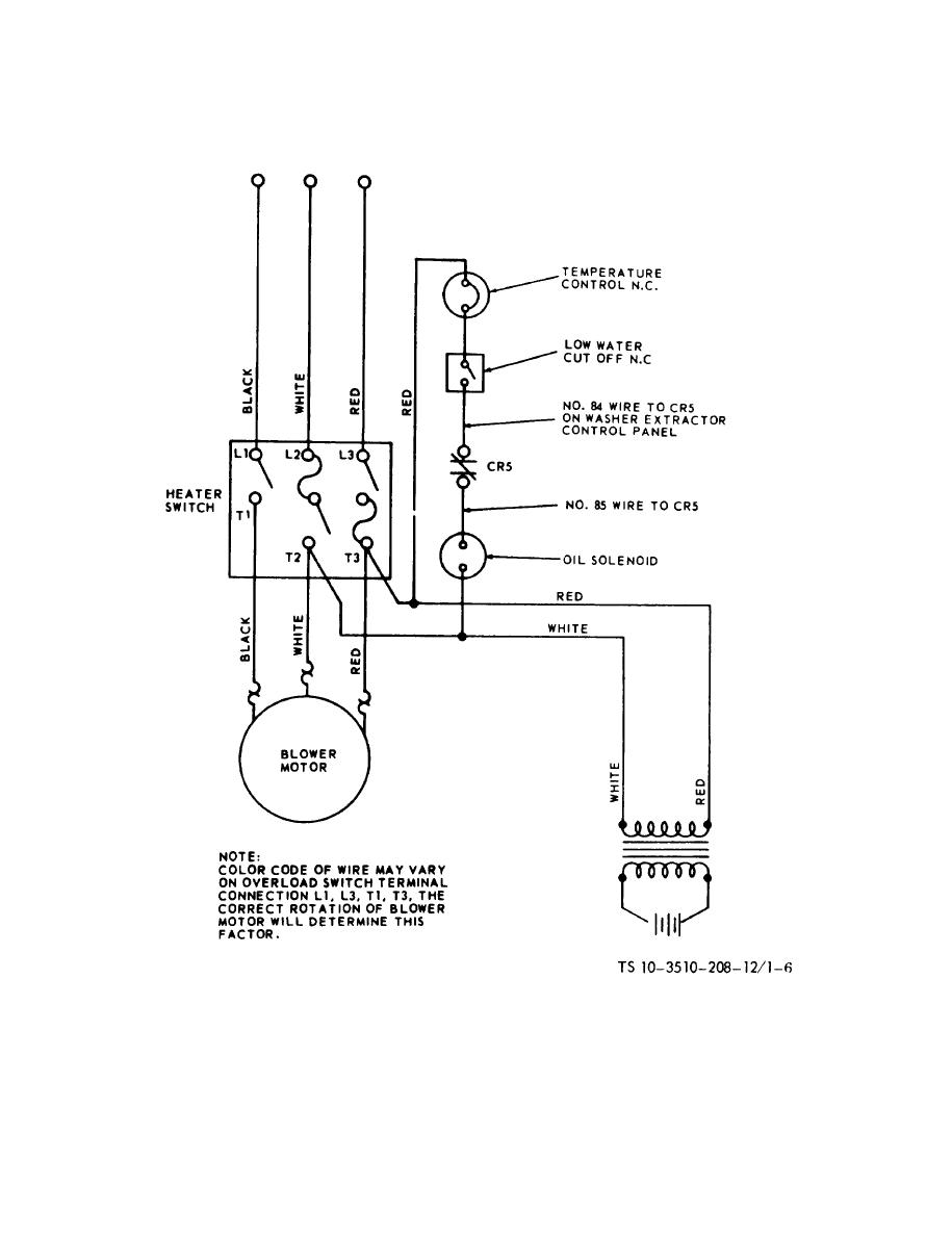 heater wiring diagram figure 1-6. water heater wiring diagram.