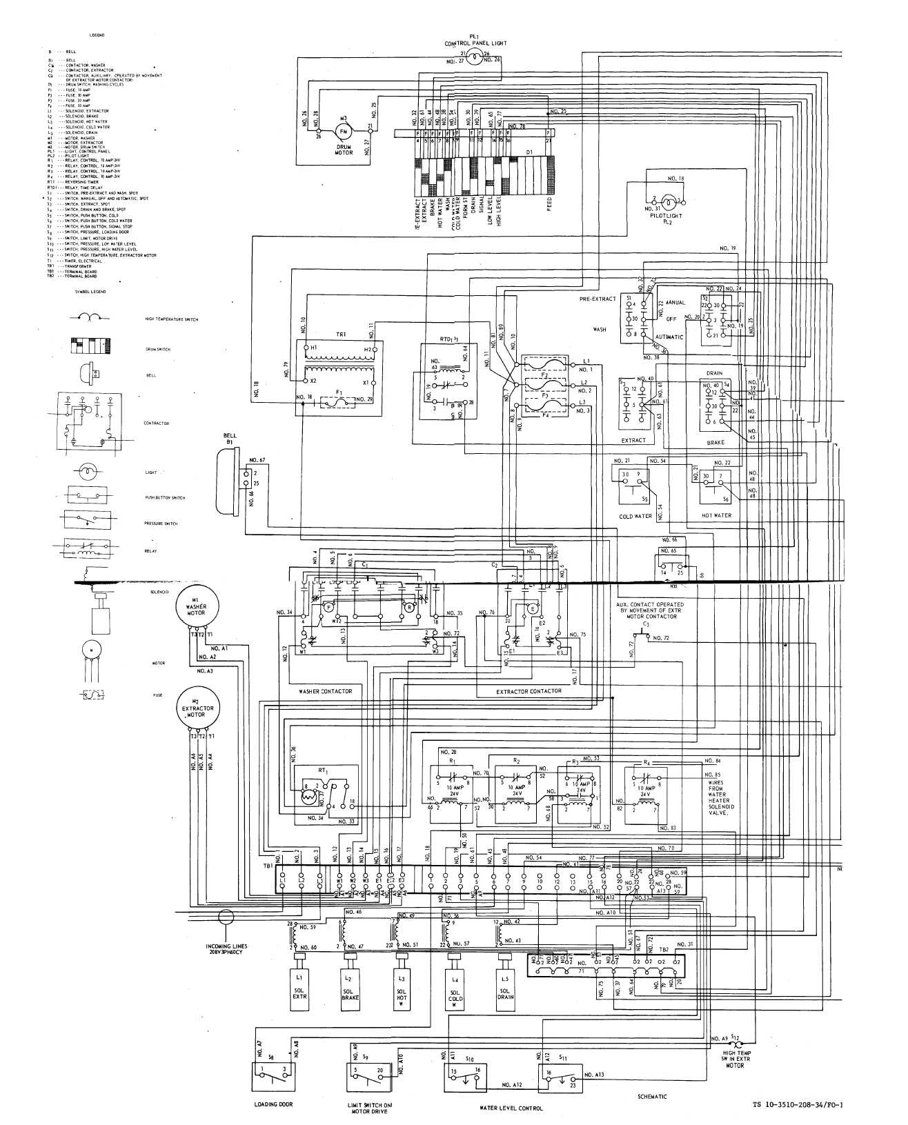 schematic wiring diagram (washer-extractor)