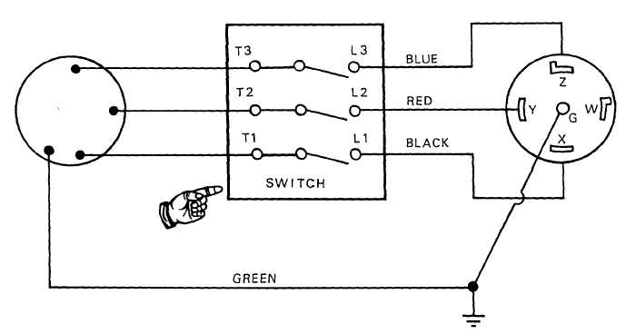 FIGURE 26 Water pump wiring diagram