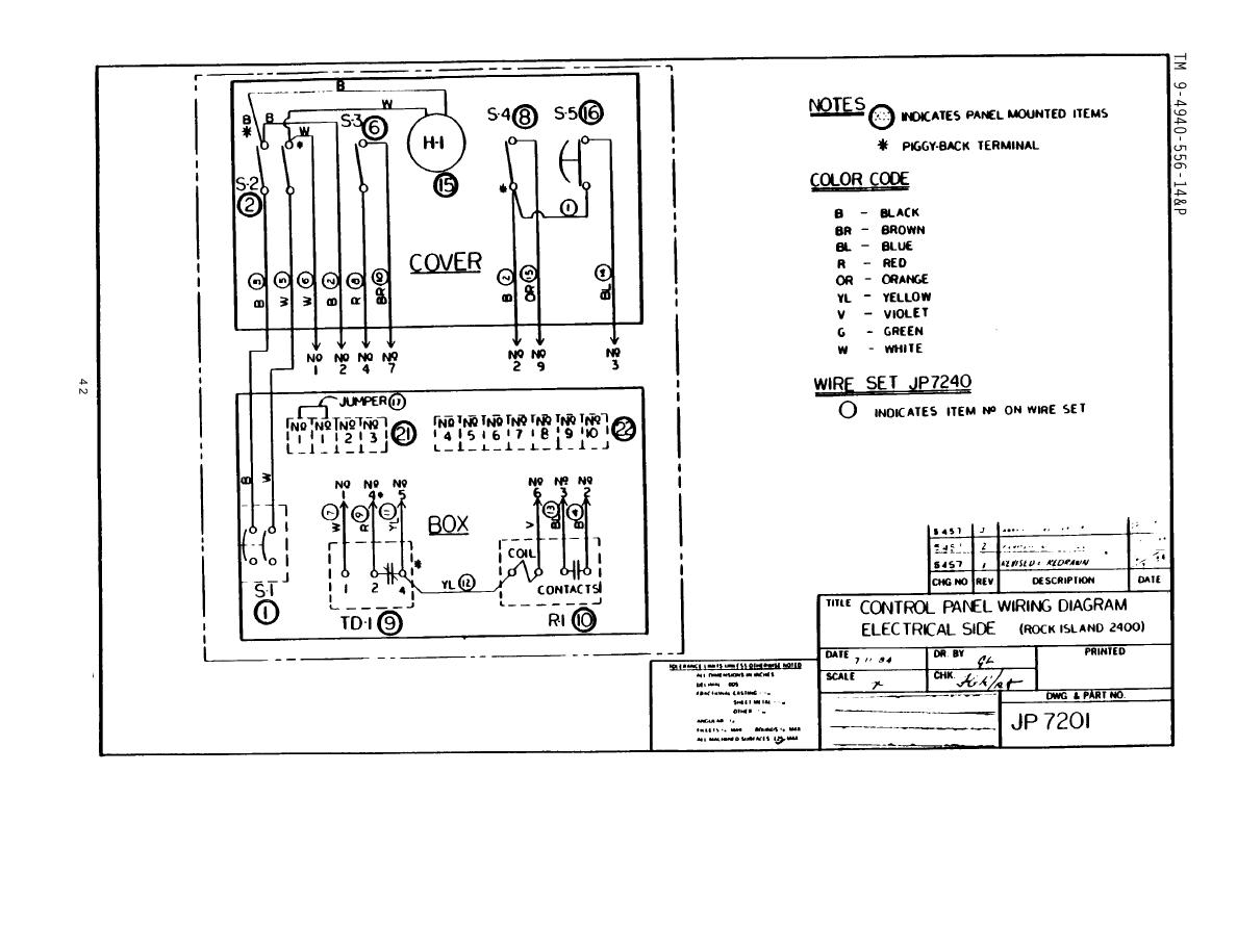 Electric panel diagram
